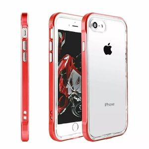 Red Lined Shockproof TPU iPhone Case